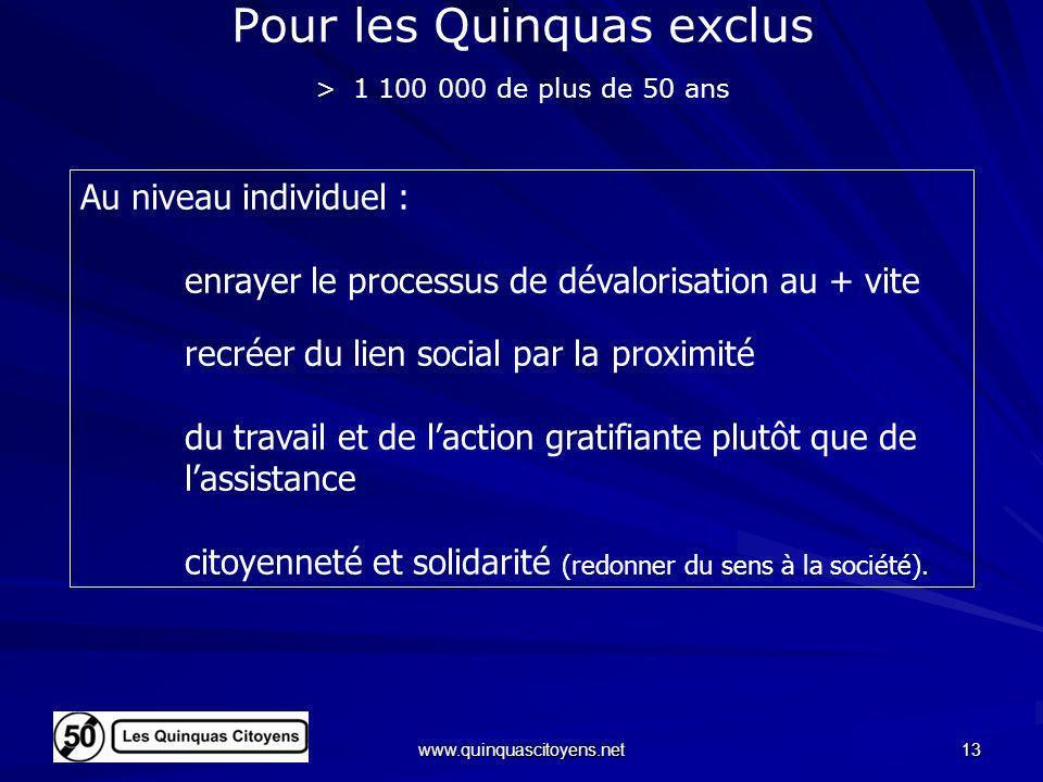 Pour les Quinquas exclus > 1 100 000 de plus de 50 ans