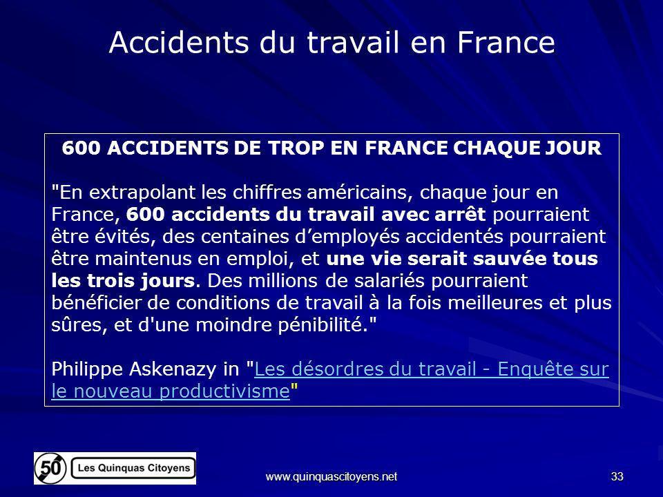 Accidents du travail en France