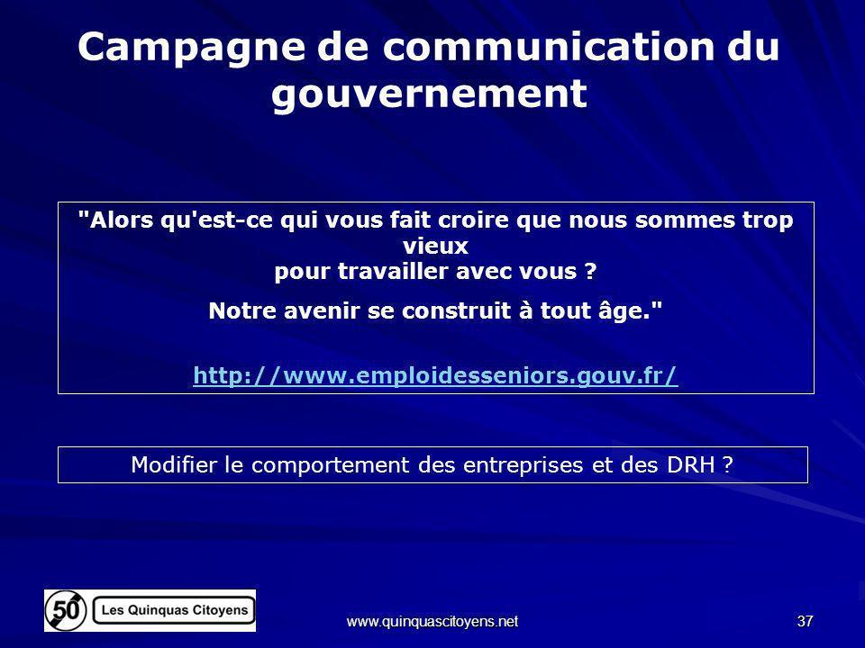 Campagne de communication du gouvernement