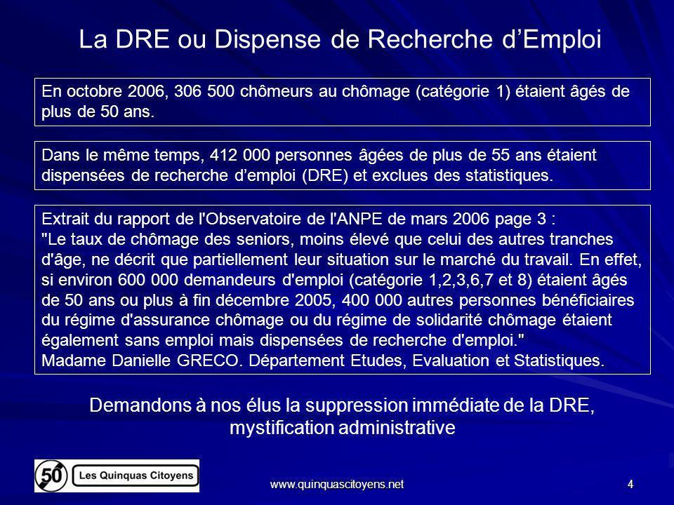 La DRE ou Dispense de Recherche d'Emploi