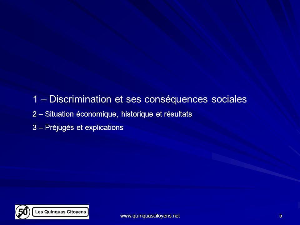 1 – Discrimination et ses conséquences sociales