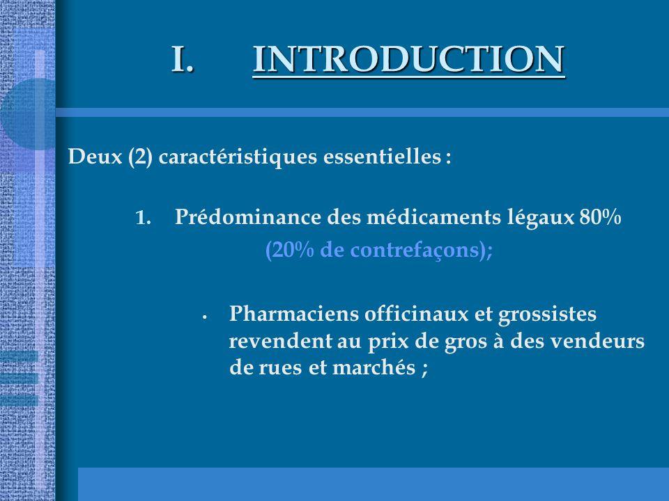 Prédominance des médicaments légaux 80%