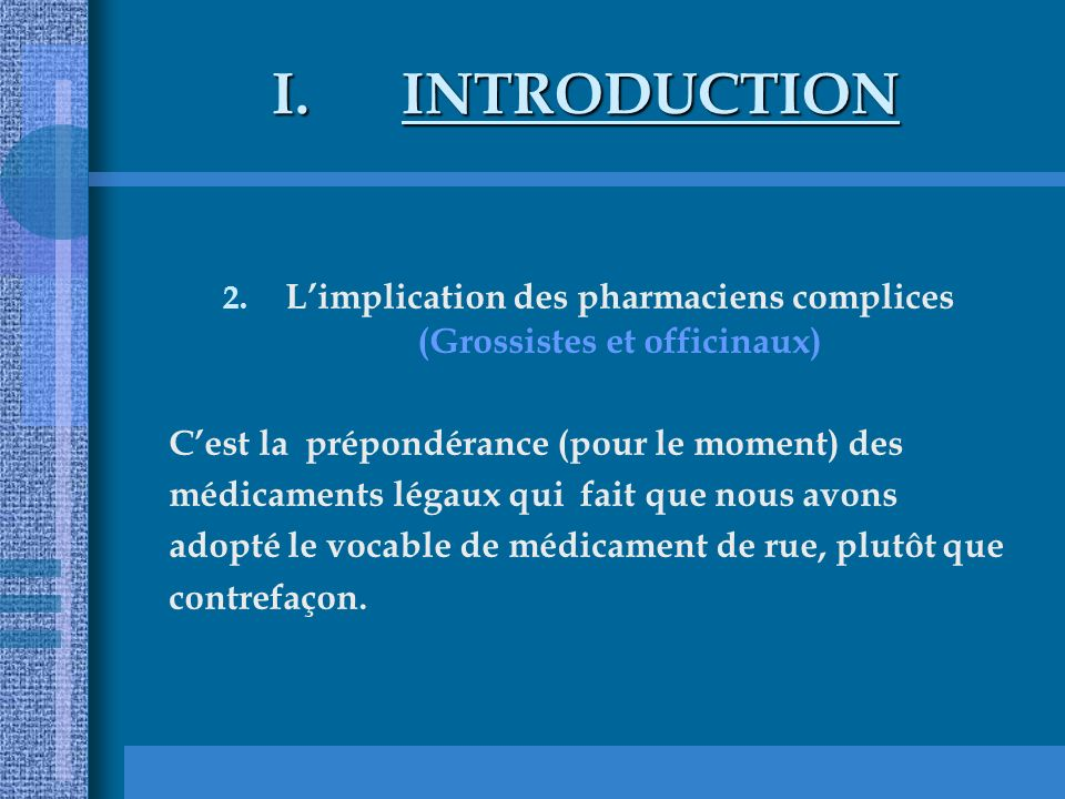 L'implication des pharmaciens complices (Grossistes et officinaux)