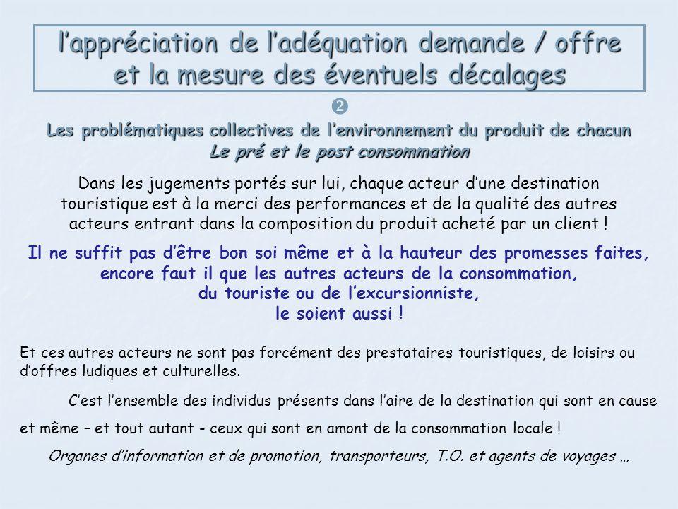 l'appréciation de l'adéquation demande / offre et la mesure des éventuels décalages