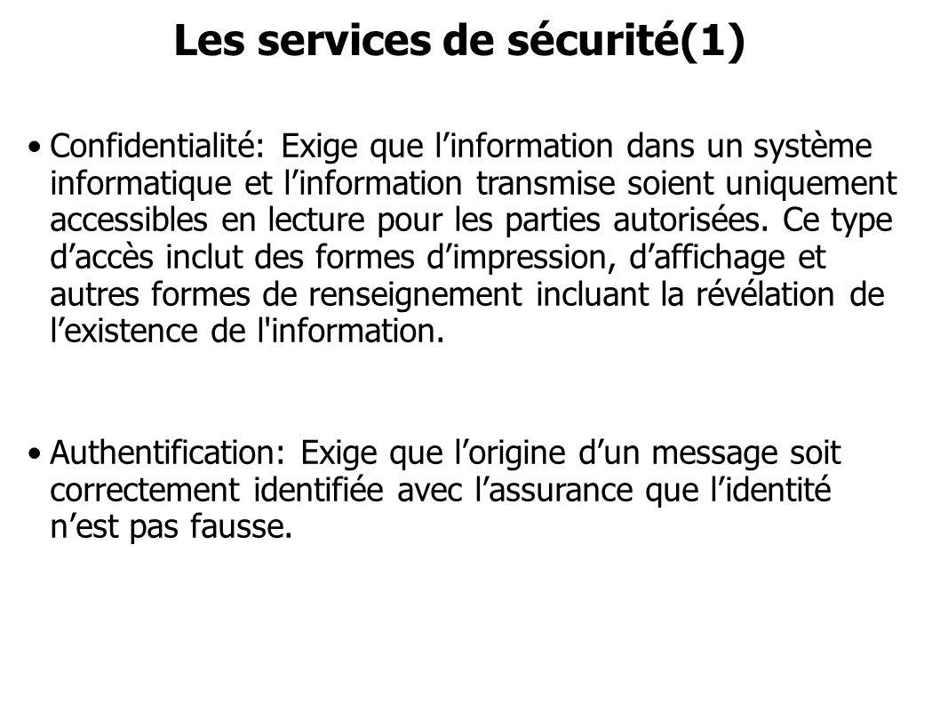 Les services de sécurité(1)