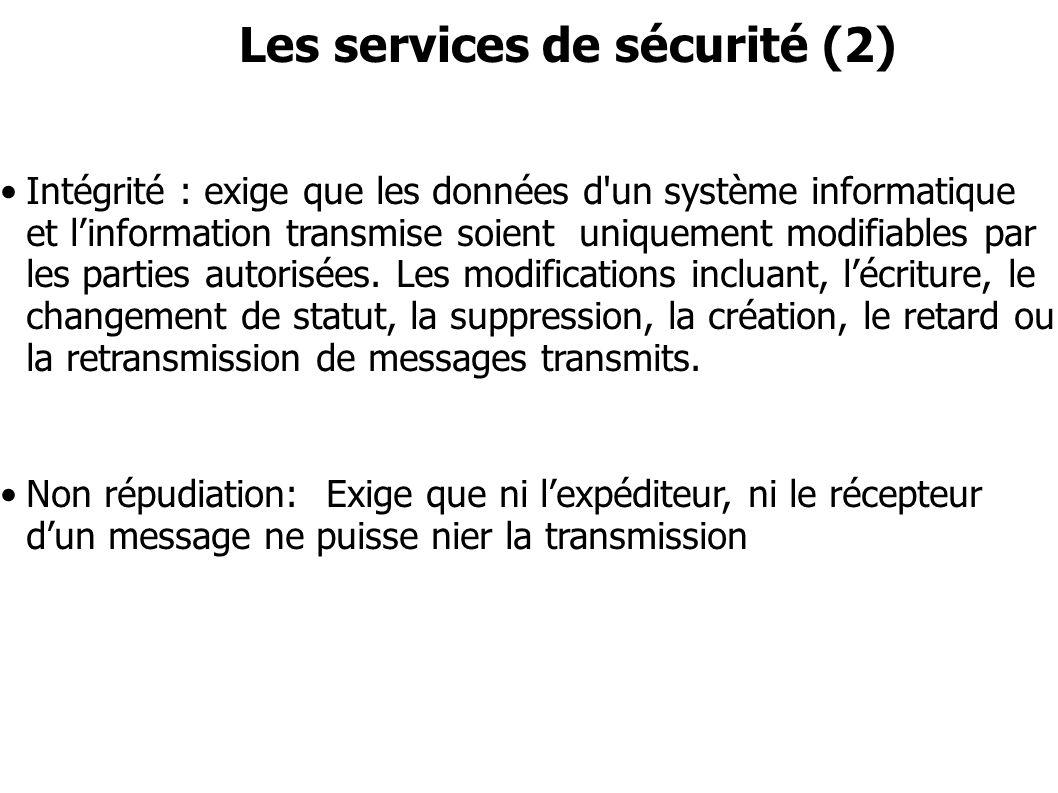 Les services de sécurité (2)