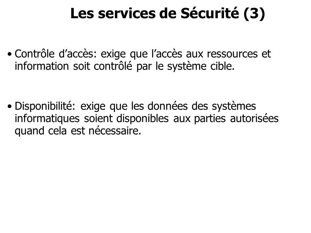 Les services de Sécurité (3)
