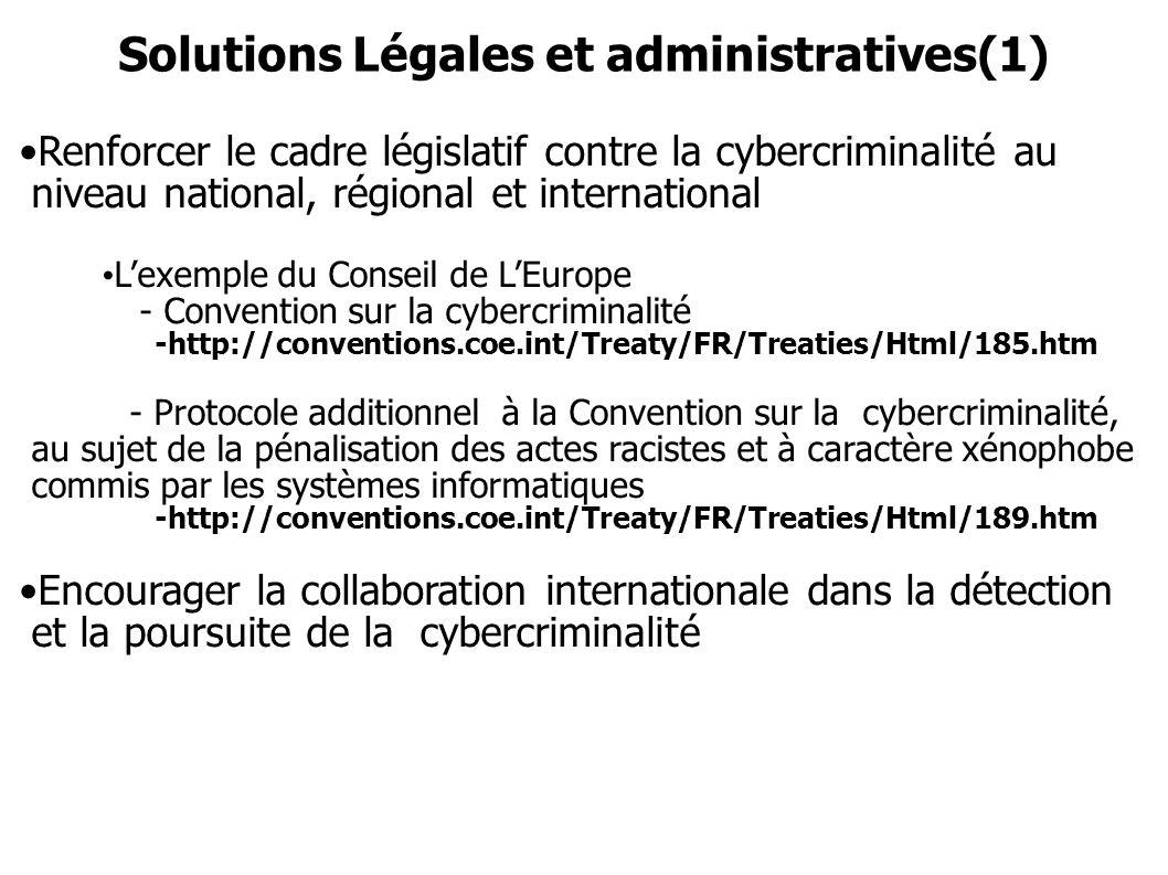 Solutions Légales et administratives(1)