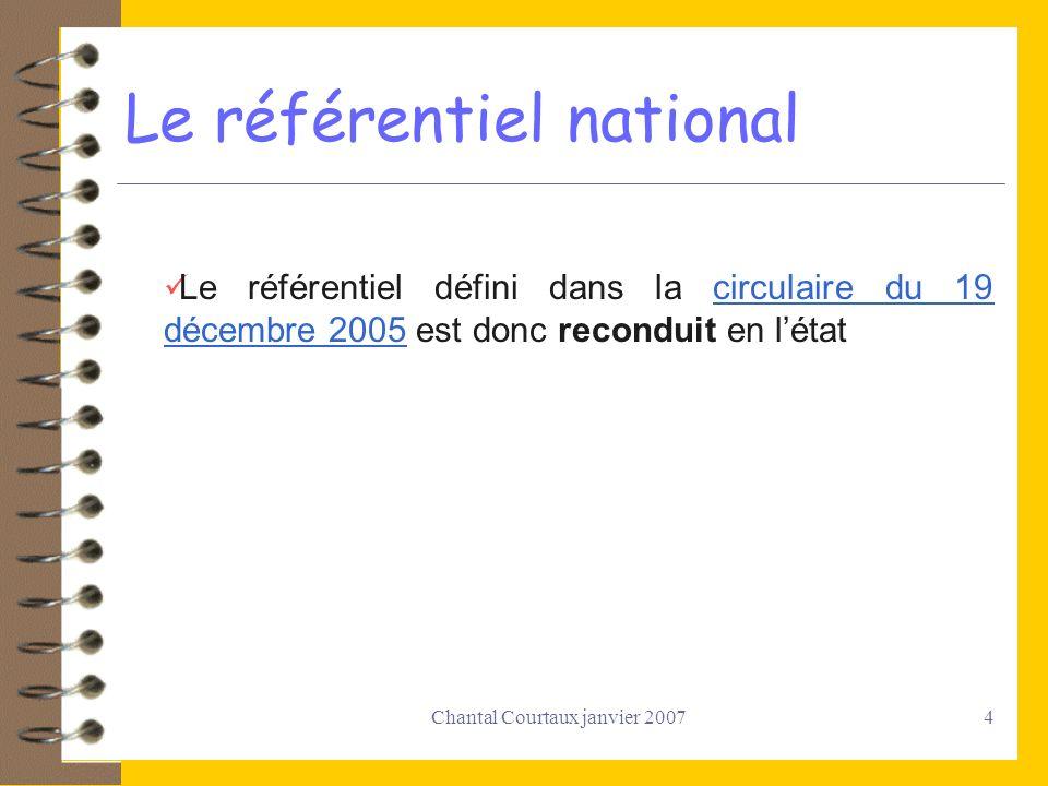 Le référentiel national