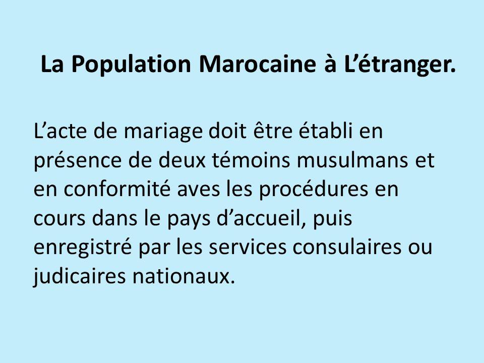 La Population Marocaine à L'étranger.