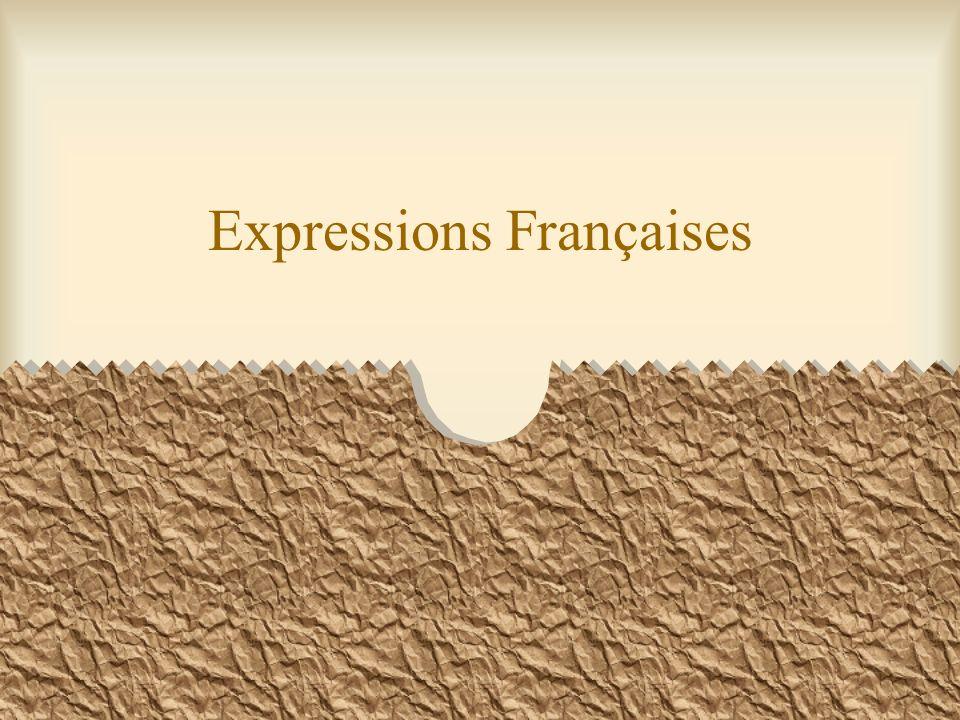 Expressions Françaises