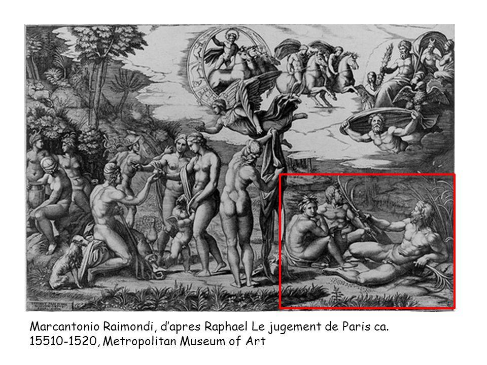 Marcantonio Raimondi, d'apres Raphael Le jugement de Paris ca