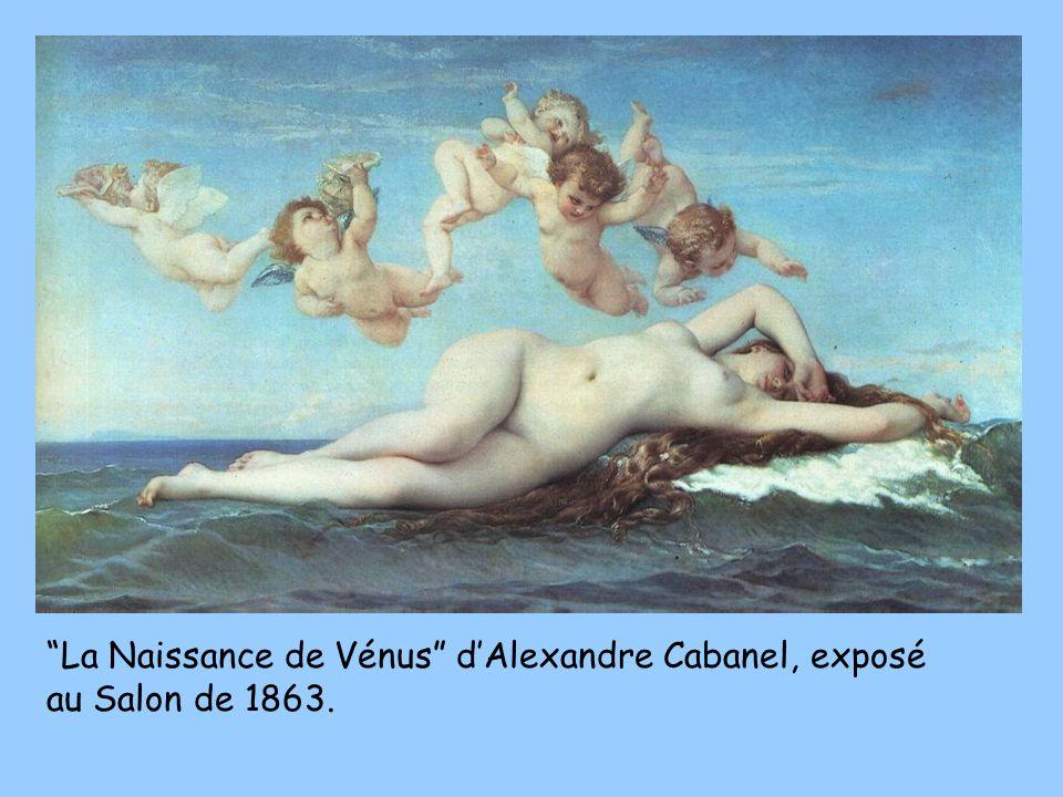 La Naissance de Vénus d'Alexandre Cabanel, exposé au Salon de 1863.