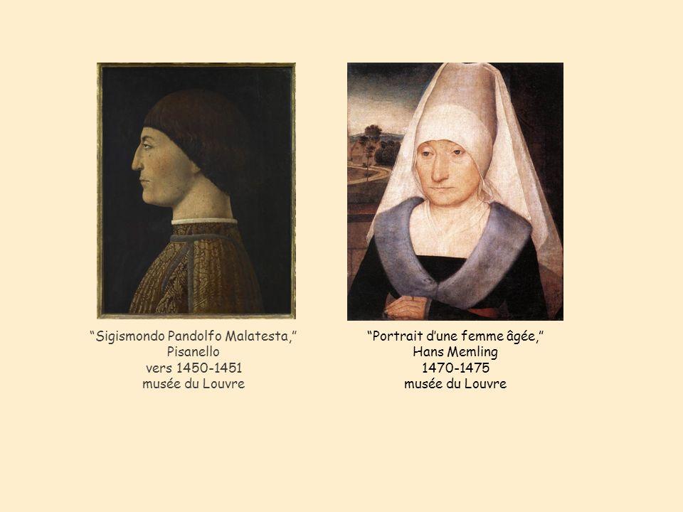 Portrait d'une femme âgée, Hans Memling 1470-1475 musée du Louvre