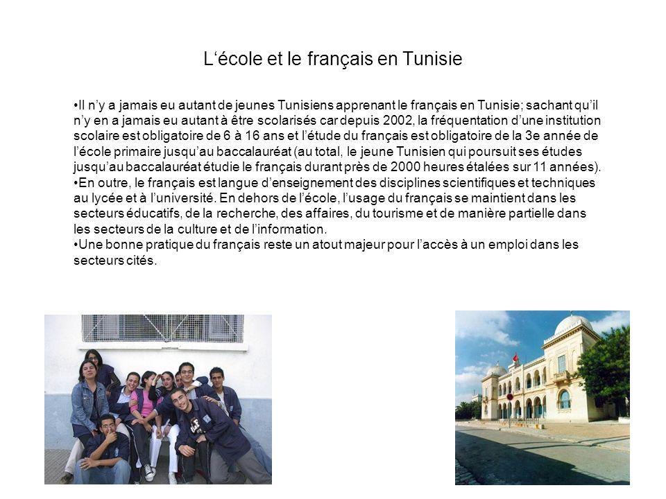 L'école et le français en Tunisie