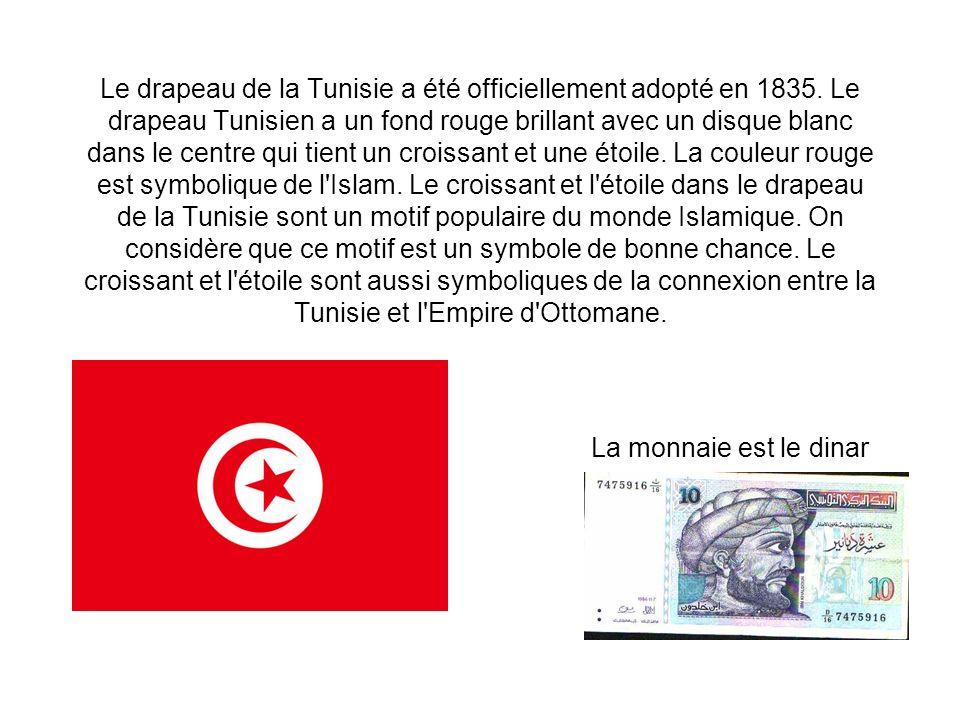 Le drapeau de la Tunisie a été officiellement adopté en 1835