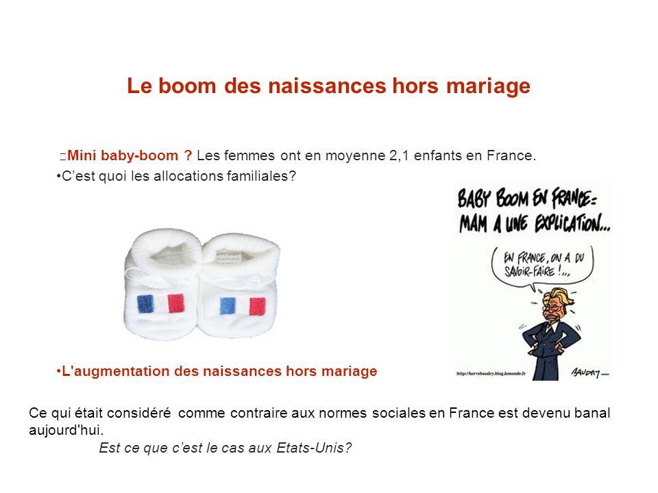 Le boom des naissances hors mariage