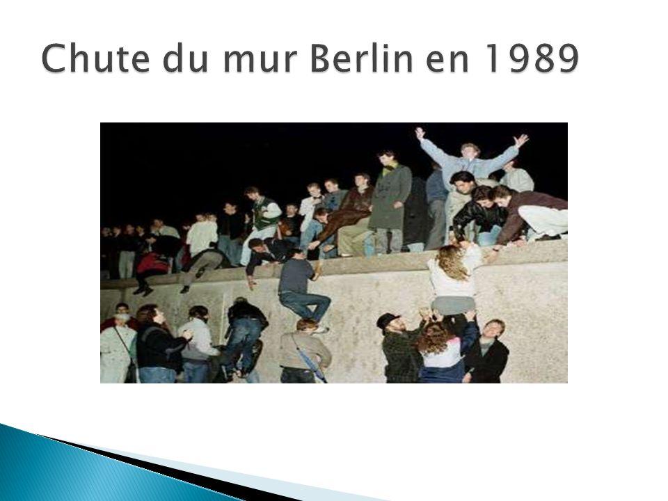 Chute du mur Berlin en 1989