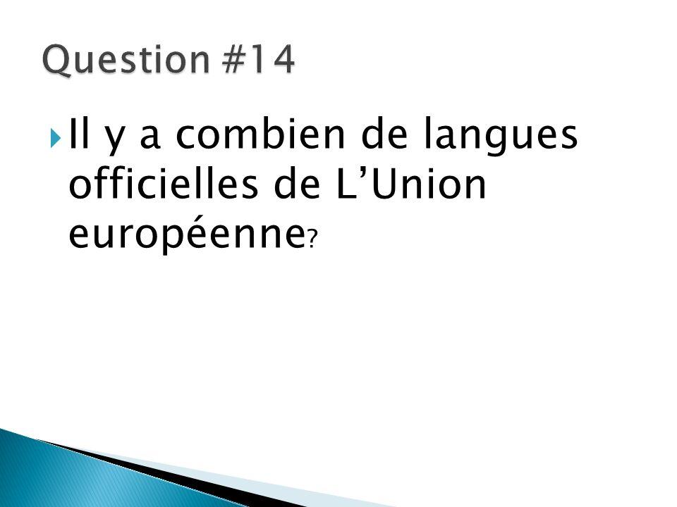Il y a combien de langues officielles de L'Union européenne