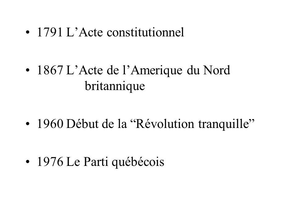 1791 L'Acte constitutionnel