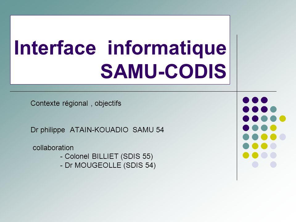 Interface informatique SAMU-CODIS