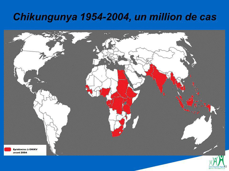 Chikungunya 1954-2004, un million de cas