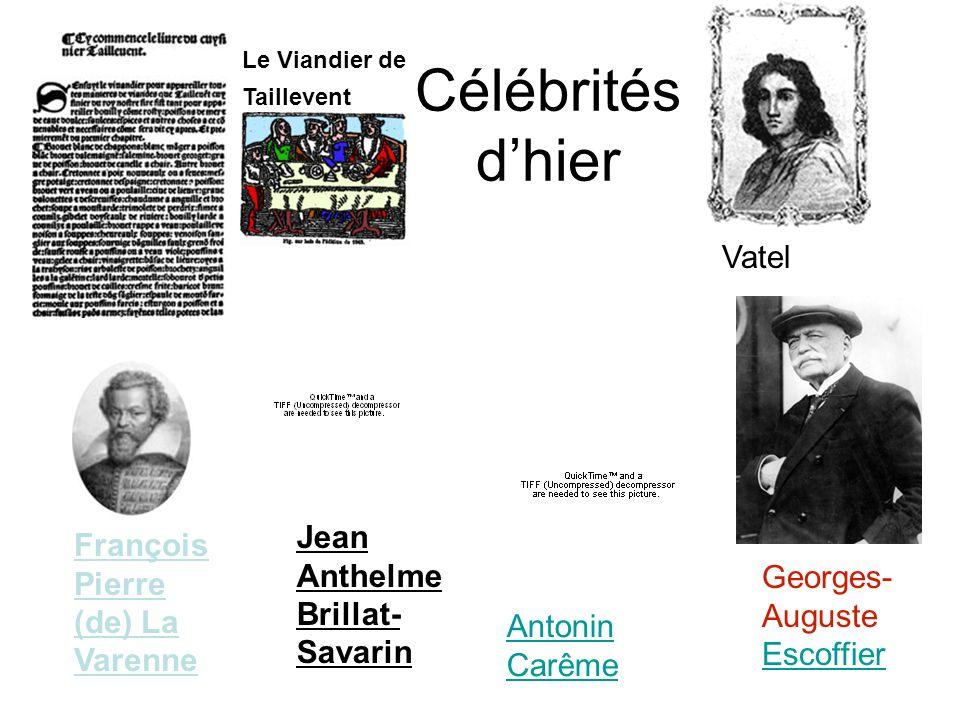 Célébrités d'hier Vatel Jean Anthelme Brillat-Savarin