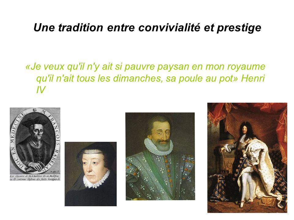 Une tradition entre convivialité et prestige