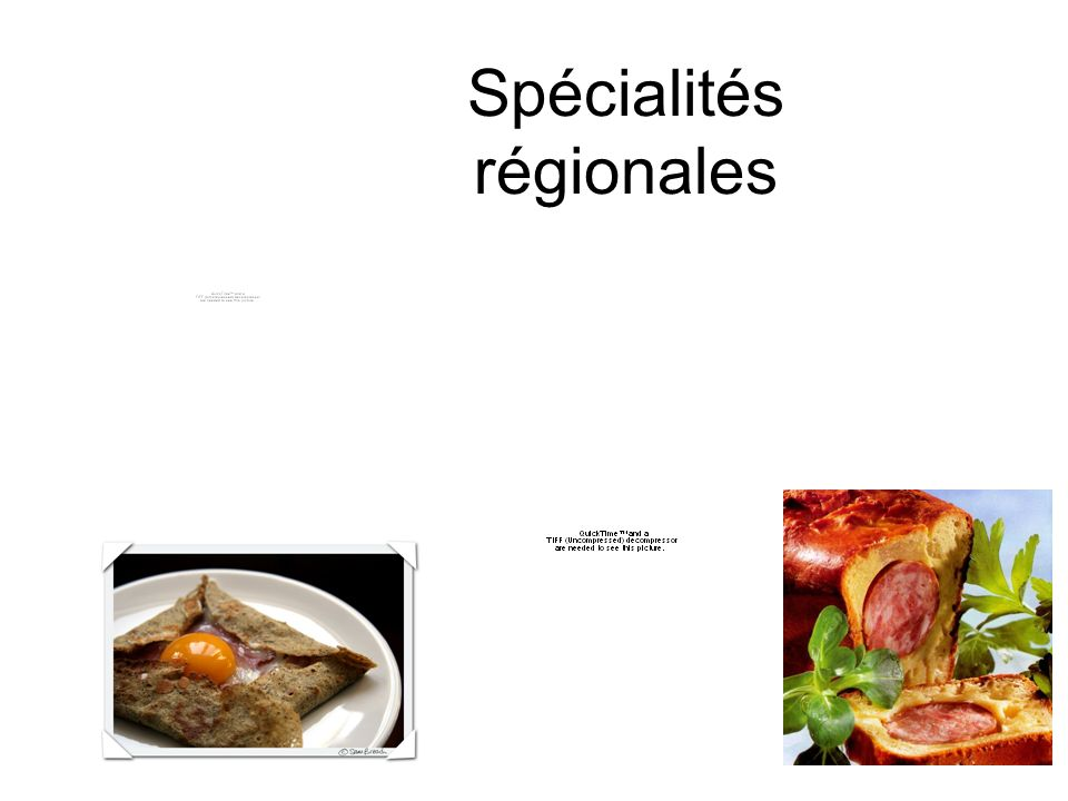 Spécialités régionales