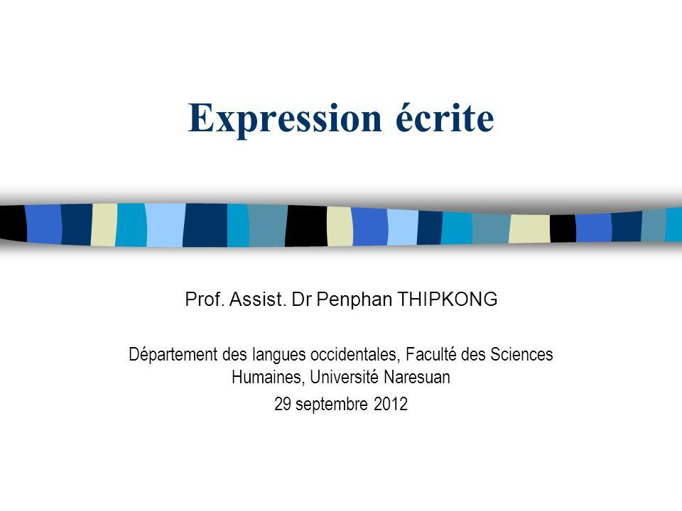 Prof. Assist. Dr Penphan THIPKONG