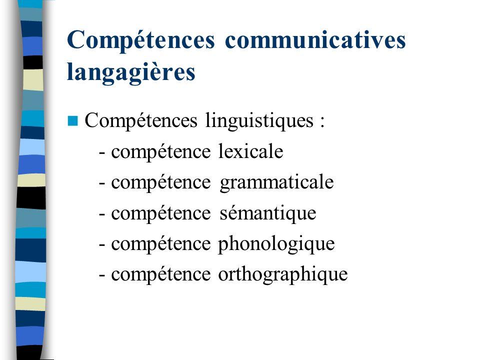 Compétences communicatives langagières