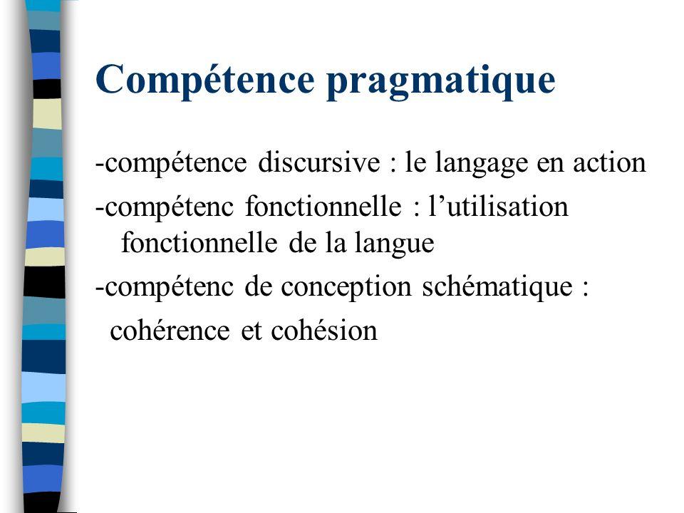 Compétence pragmatique