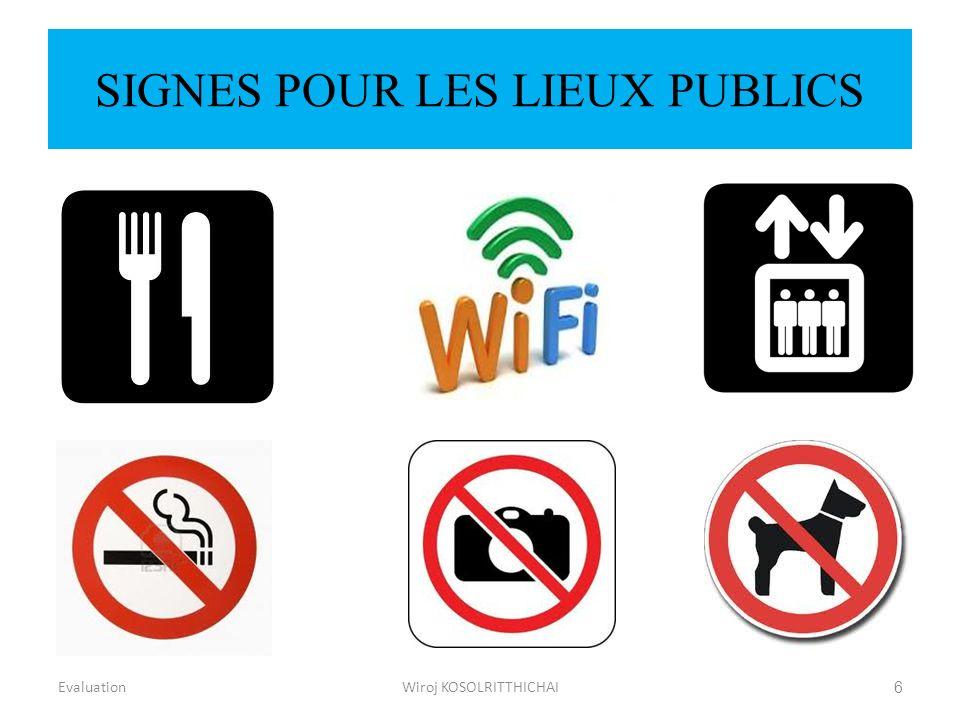 SIGNES POUR LES LIEUX PUBLICS