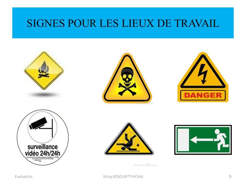 SIGNES POUR LES LIEUX DE TRAVAIL