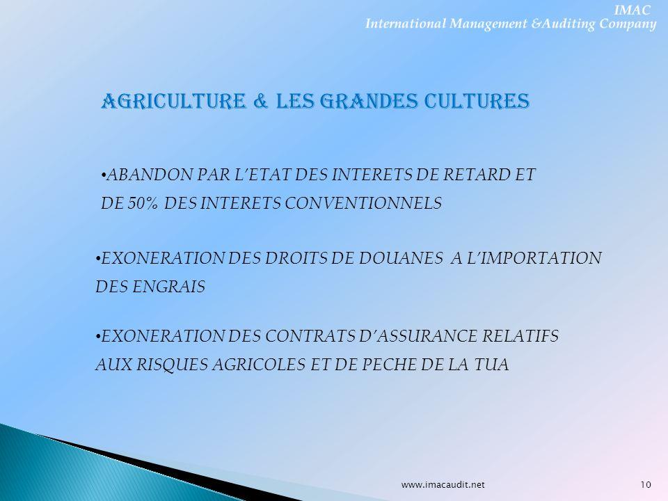 AGRICULTURE & LES GRANDES CULTURES