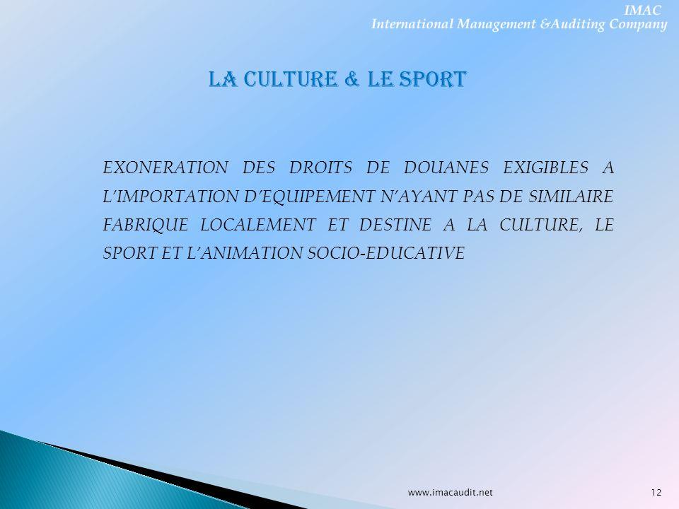 LA CULTURE & LE SPORT