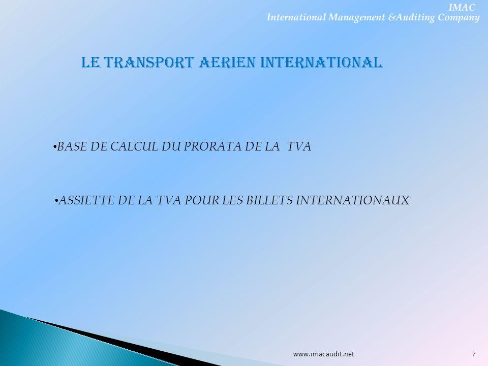 LE TRANSPORT AERIEN INTERNATIONAL