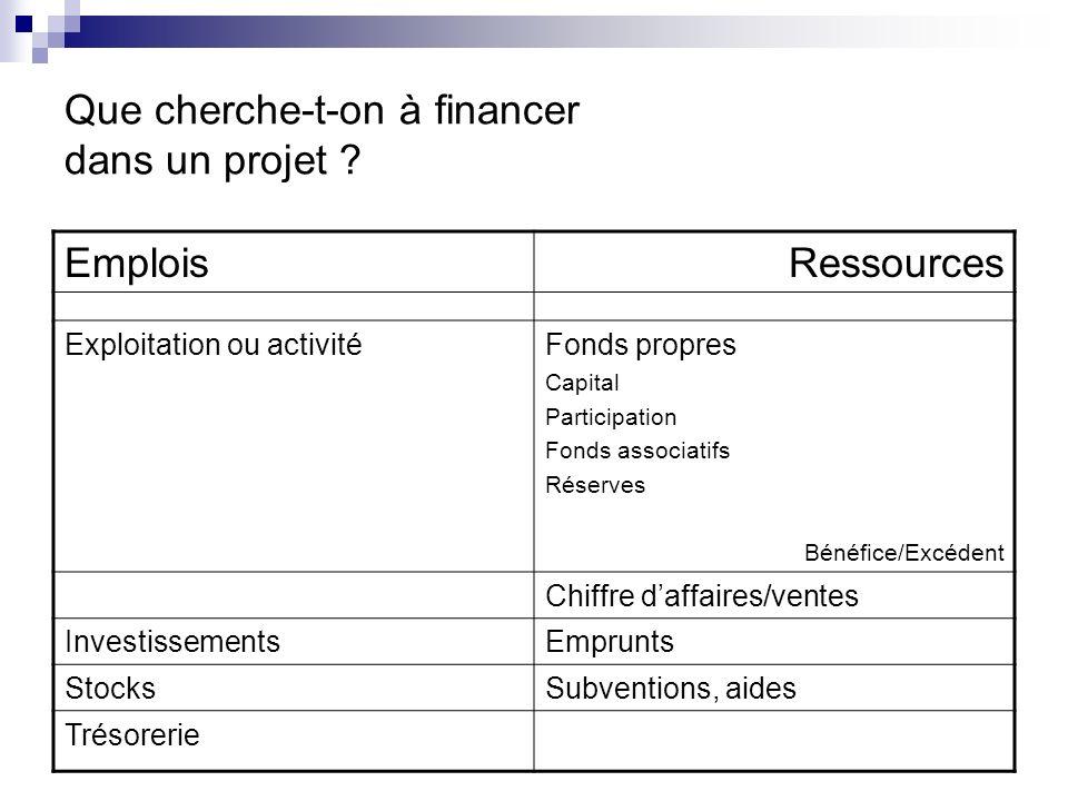 Que cherche-t-on à financer dans un projet