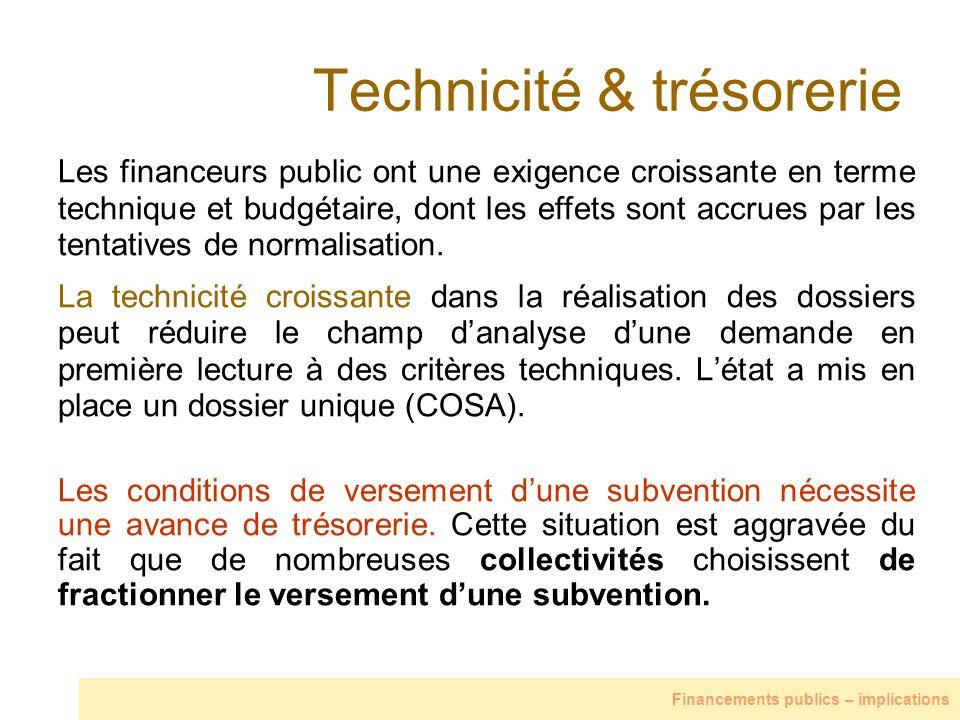 Technicité & trésorerie