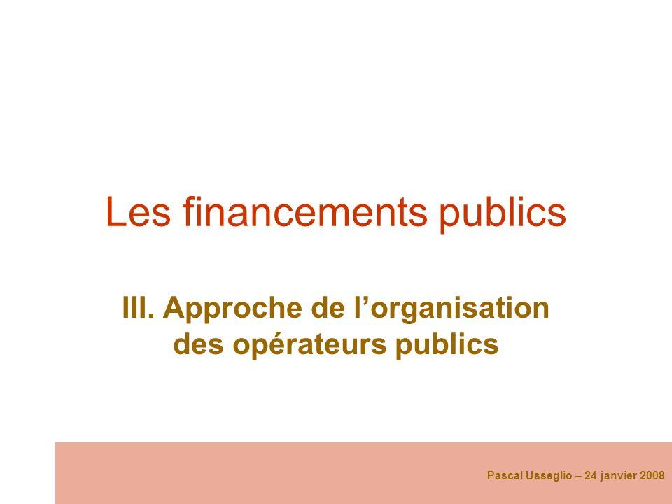 Les financements publics