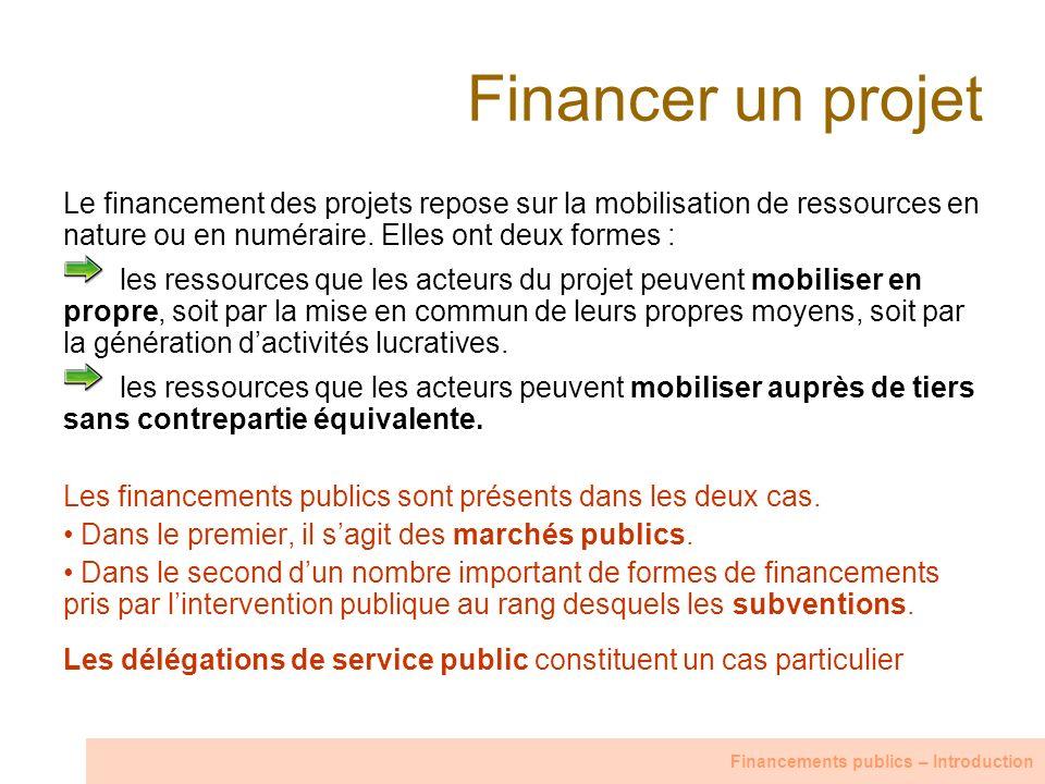 Financer un projet Le financement des projets repose sur la mobilisation de ressources en nature ou en numéraire. Elles ont deux formes :