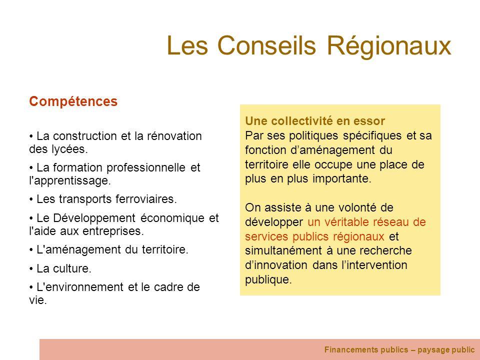 Les Conseils Régionaux