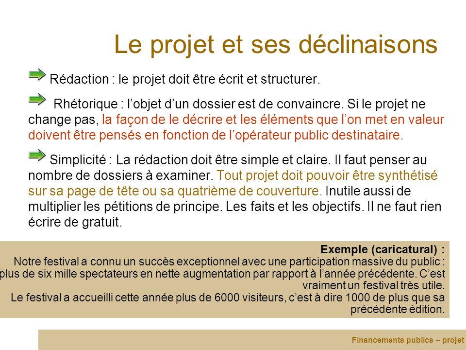 Le projet et ses déclinaisons