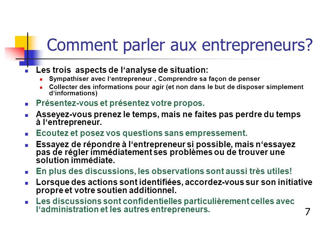 Comment parler aux entrepreneurs