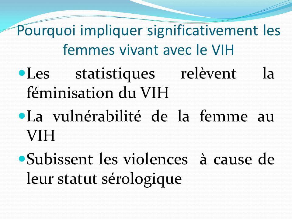 Pourquoi impliquer significativement les femmes vivant avec le VIH
