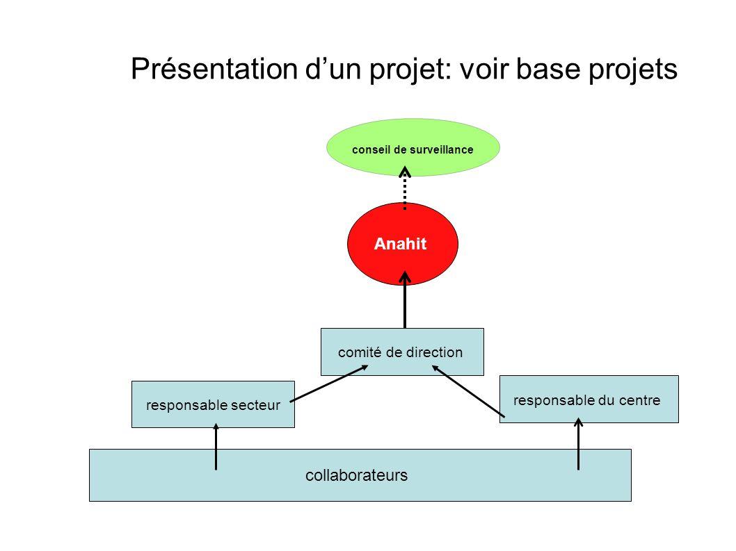 Présentation d'un projet: voir base projets
