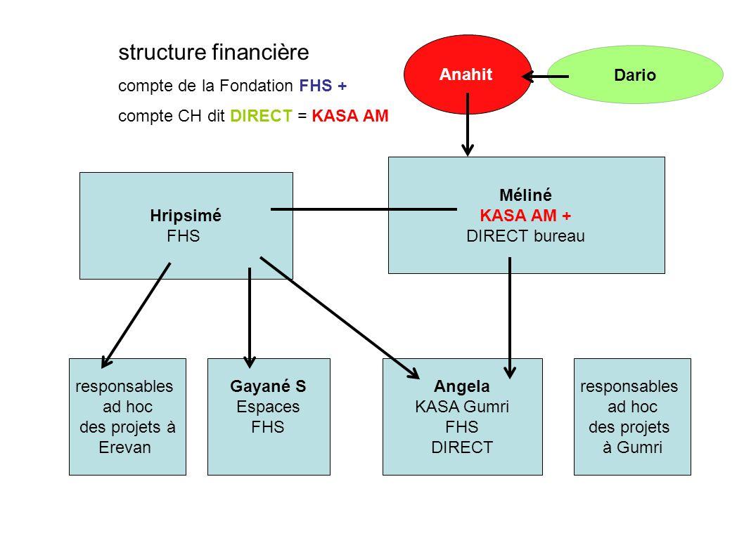 structure financière compte de la Fondation FHS +