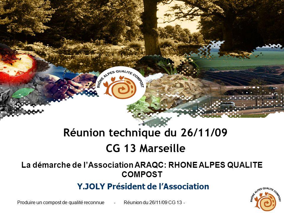 Réunion technique du 26/11/09 CG 13 Marseille