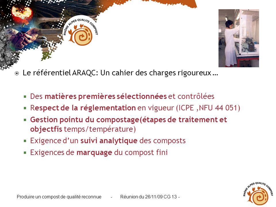 Le référentiel ARAQC: Un cahier des charges rigoureux …