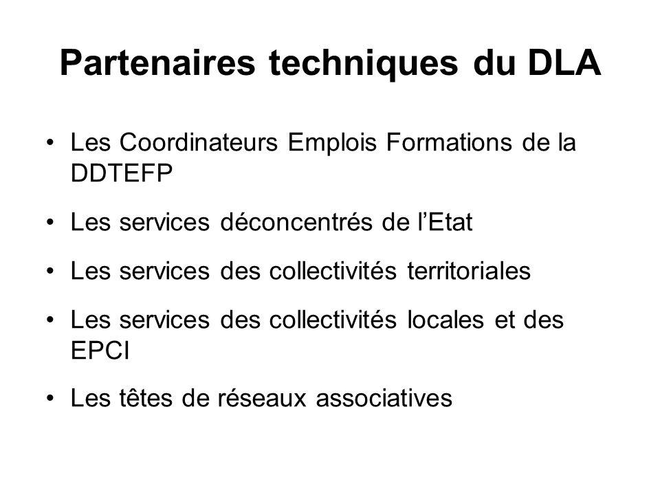 Partenaires techniques du DLA